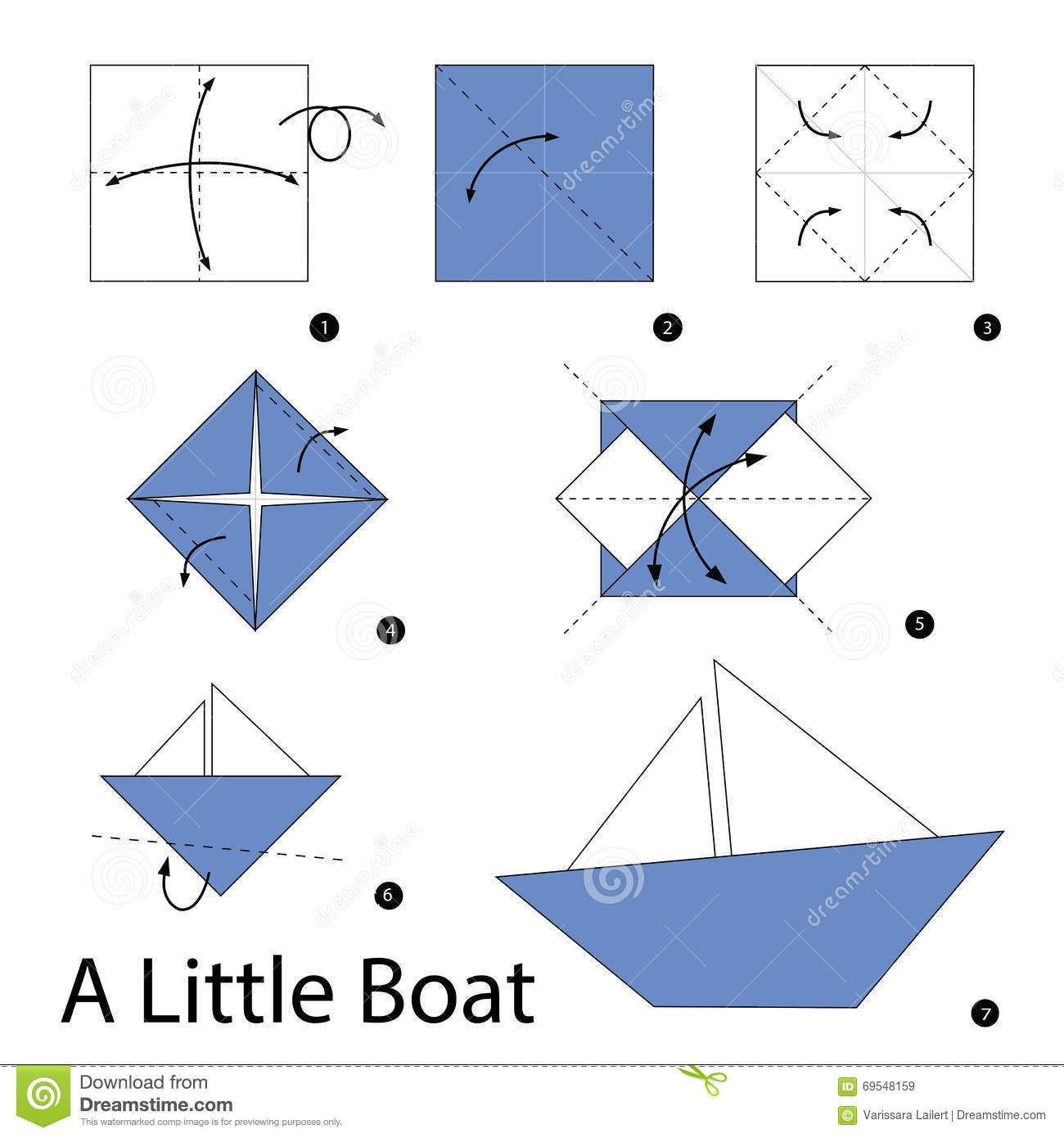instructions  u00e9tape-par- u00e9tape comment faire  u00e0 origami un bateau