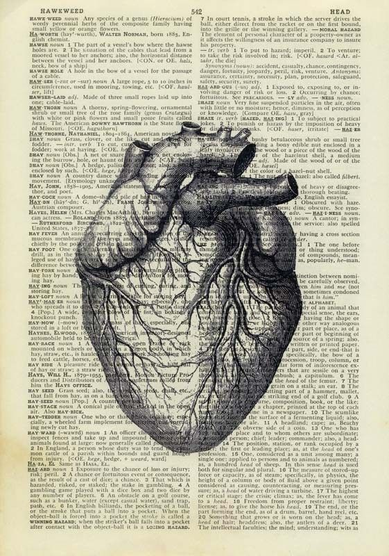 Vintage heart dictionary page print | Visually pleasing | Pinterest ...