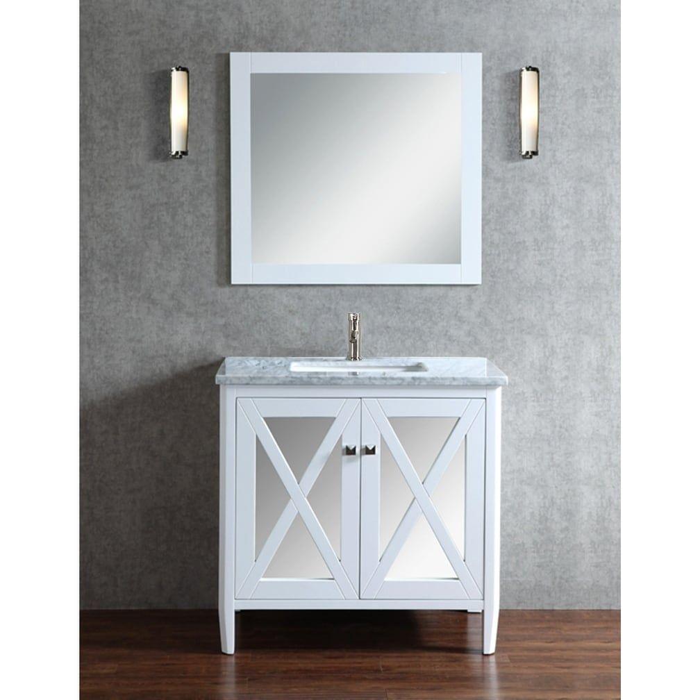 MTD Vanities Reflection Single Sink Bathroom Vanity Set White - Bathroom outlet stores