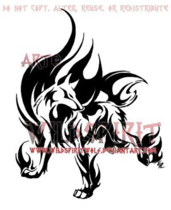 Flame Wolf Tattoo Design By WildSpiritWolf On @DeviantArt