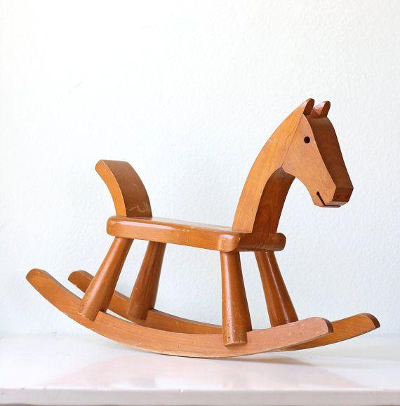 Wooden Handmade Wood Toy Rocking Horse Kids Gift Ideas