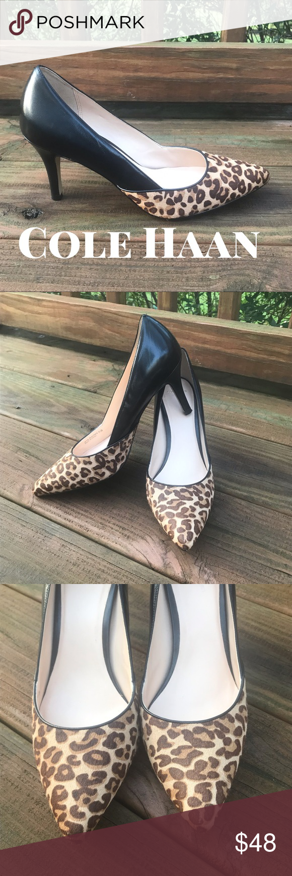 a917971ff426 Cole Haan Rendon ll Leopard Print   Cow Hair Pump ▫️Excellent Preloved  Condition Leather Heels ▫️Stylish Leopard Cow Hair Detail ▫️Pointed Toe ...