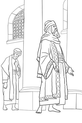 Pharisee And The Publican Coloring Page Free Printable Coloring Pages Bible Coloring Pages Coloring Pages Inspirational Coloring Pages