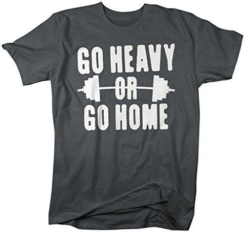 Menu0027s Go Heavy Or Go Home T-Shirt Lifting Shirts Workout - best of tabla periodica berilio