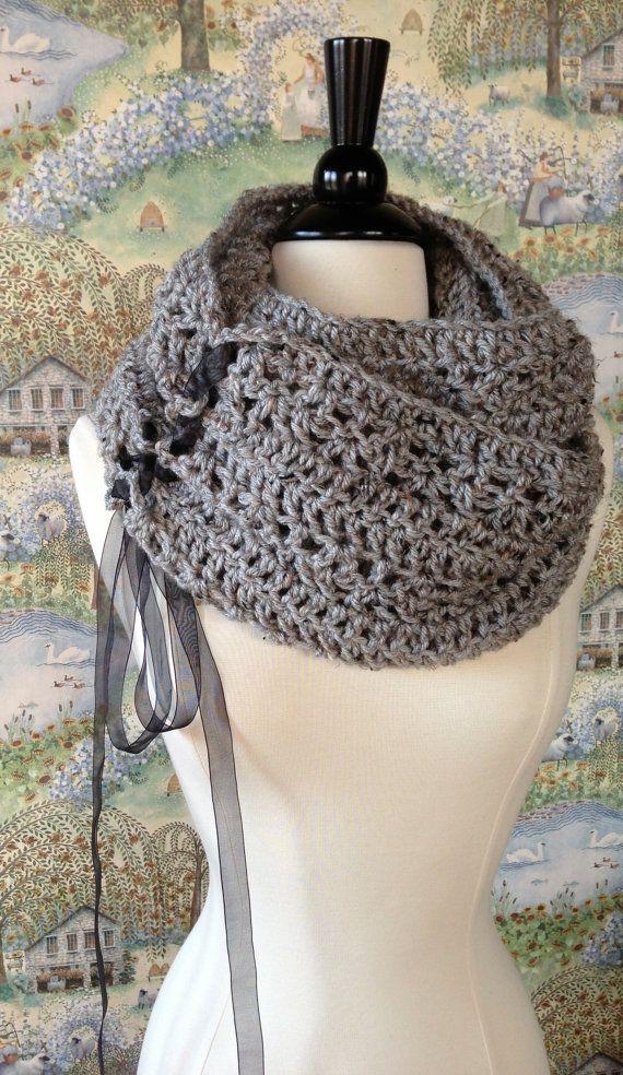 Infinity patrón de ganchillo bufanda bufanda de bricolaje o gran ...