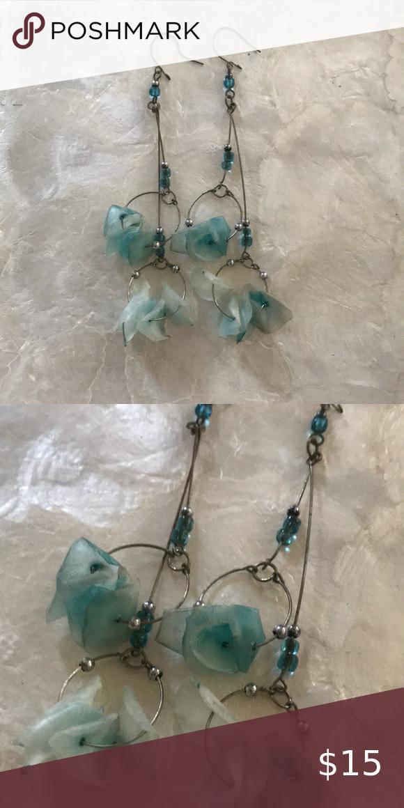 Dried Flower Petal Earrings