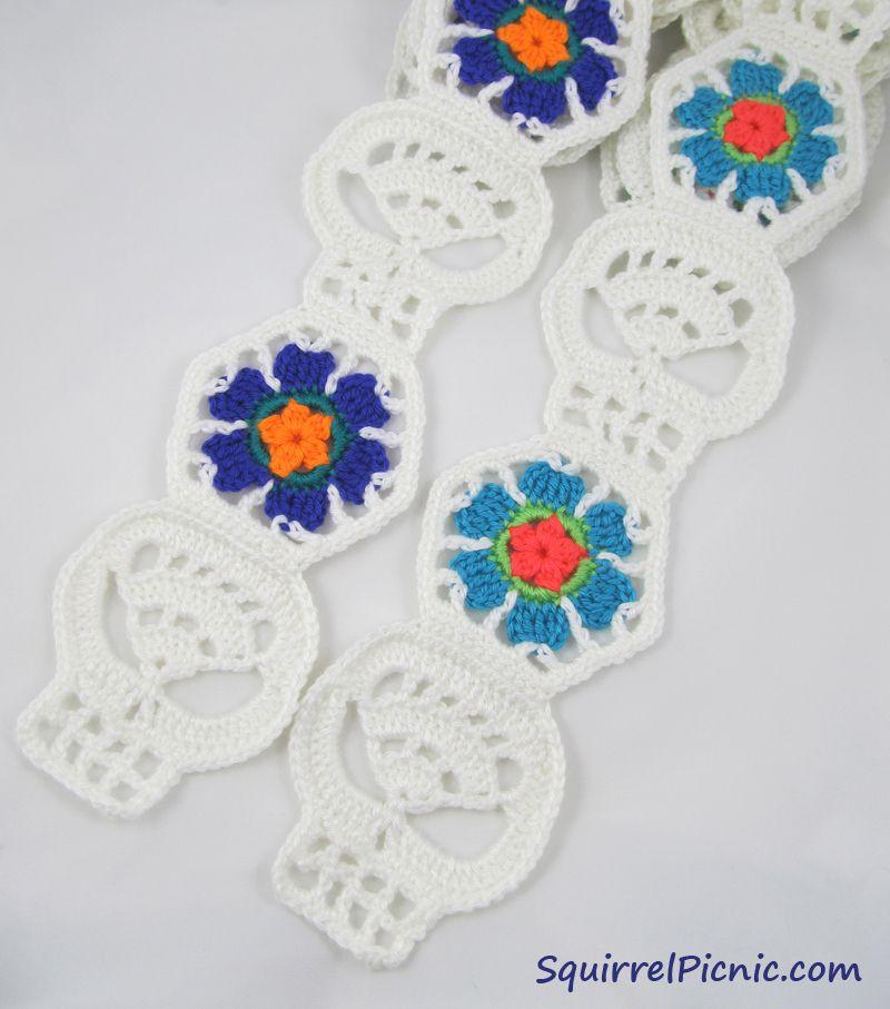 Sugar Candy Skull Crochet Pattern | Knitting | Pinterest | Las artes ...