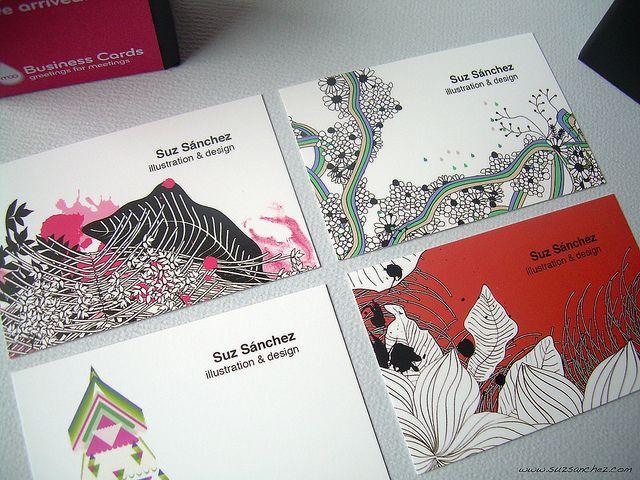 Visit cards from artist Suz Sanchez