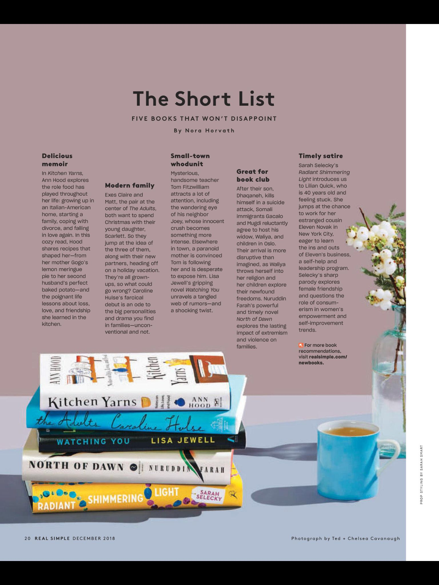 The Short List From Real Simple December 2018 Read It On The