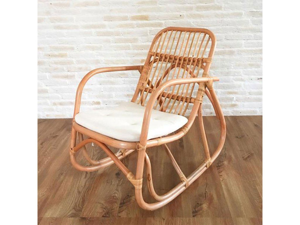 Serena Rattan Rocking Chair With Cushion Natural Rattan Rocking Chair Wicker Rocking Chair White Wicker Rocking Chairs