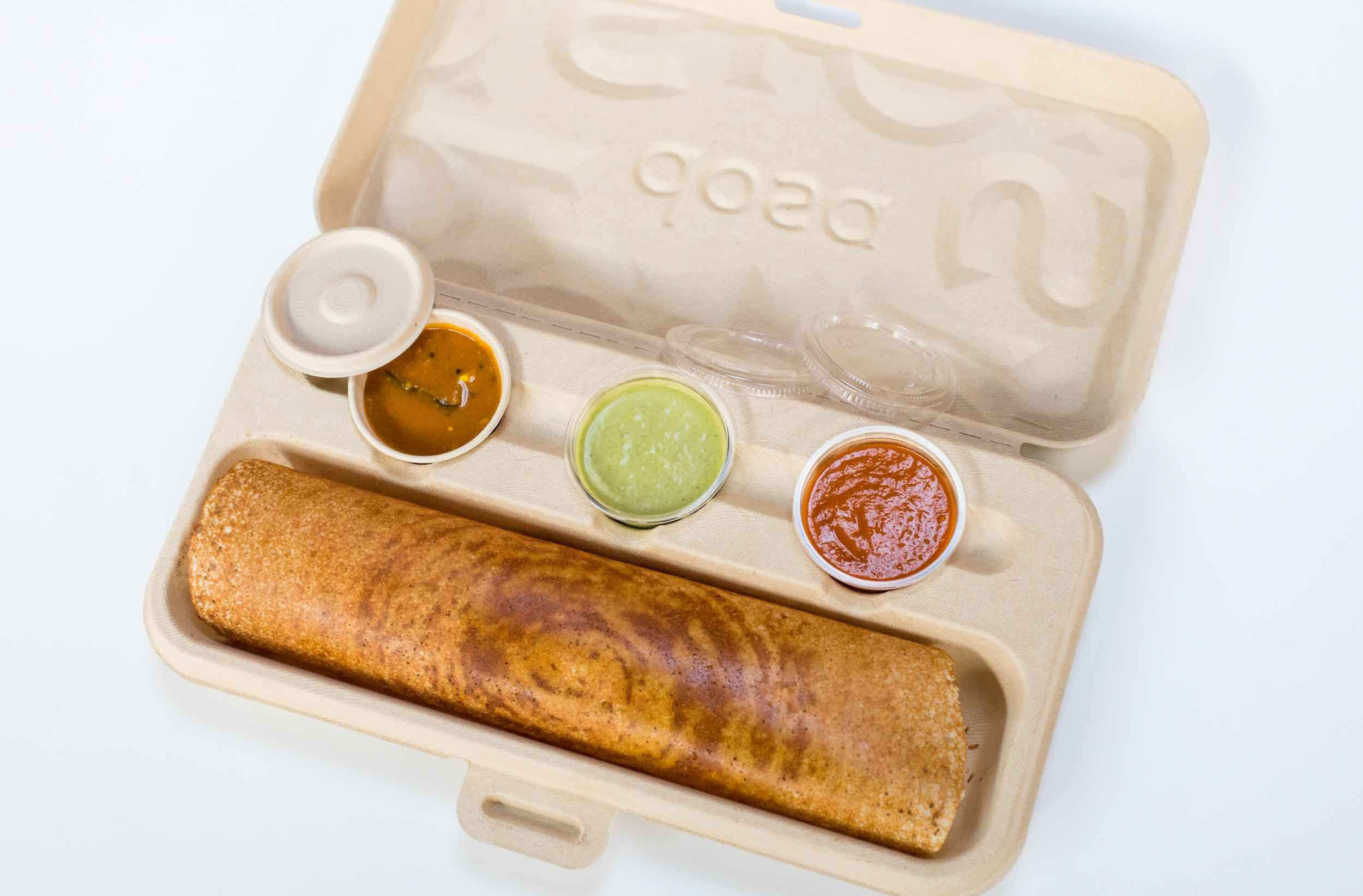 Our innovative dosa togo box Food packaging design