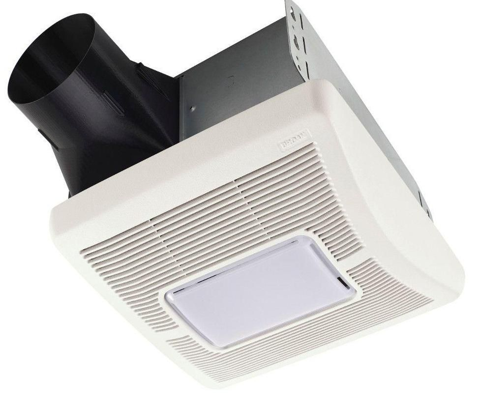 Broan A70l Ceiling Exhaust Bath Fan With Light 70cfm White With