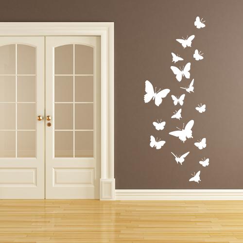 Wohnzimmer Flur Wandtattoo Schmetterlinge Wandbild Wandtatoo Spielzimmer