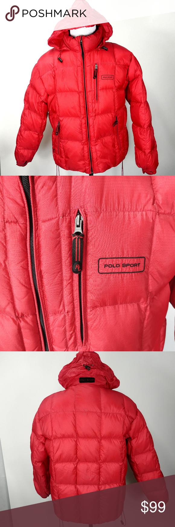 Polo Sport Ralph Lauren Mens Puffer Jacket Sz L Polo Sport