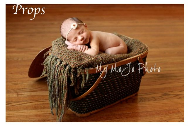 Prop shop for newborn photography reproductions original vintage and wraps