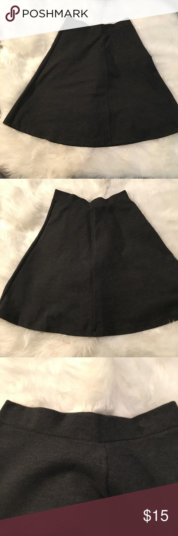 for uniqlo circular skirt charcoal gray uniqlo skirts