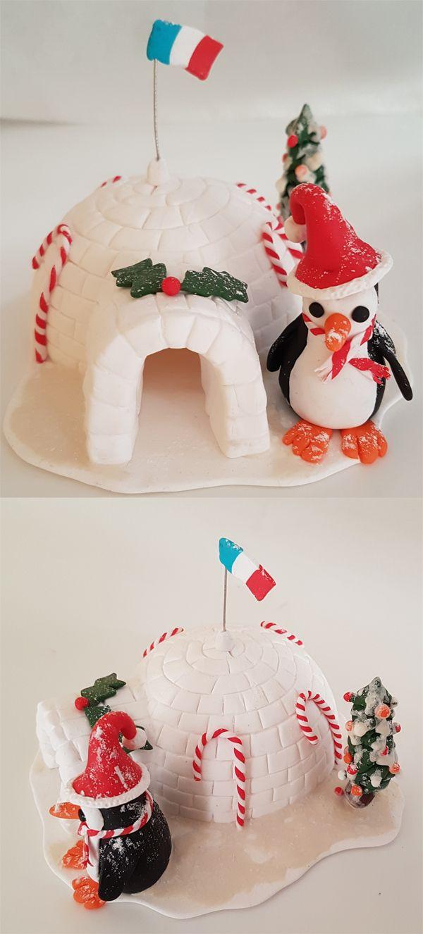 Pâte polymère - Igloo - Pingouin