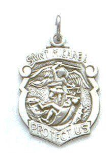 St michael sterling silver medal pendant 18 steel chains be sure st michael sterling silver medal pendant 18 steel chains be sure to check out aloadofball Gallery