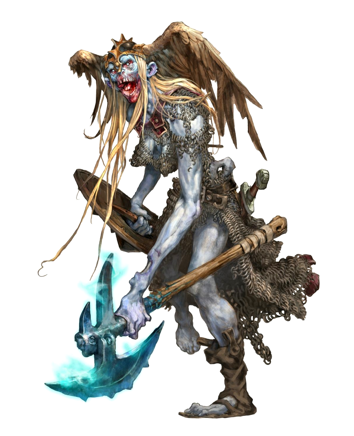 Female JuJu Zombie Frost Giant Fighter - Pathfinder PFRPG