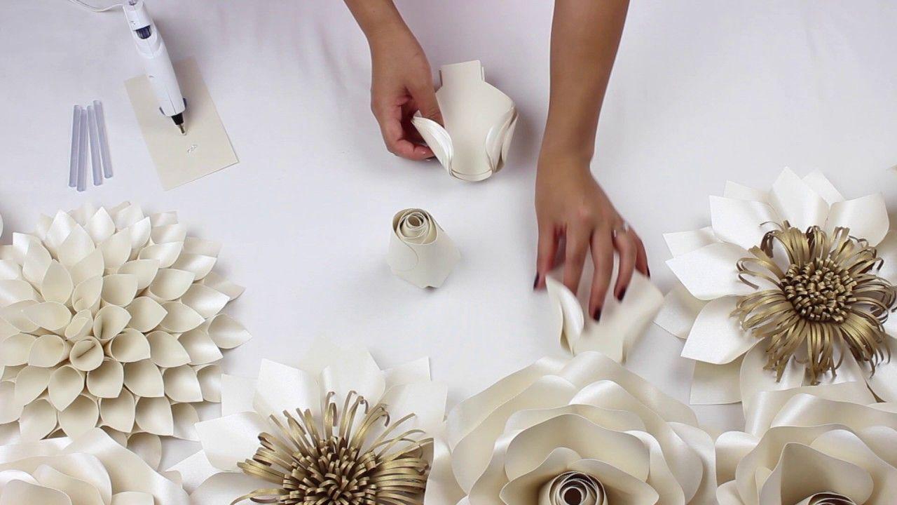 Diy Paper Rose Tutorial My Wedding Backdrop Flowers Youtube