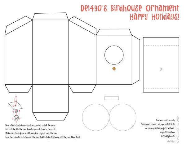 vogelhaus basteln mit papier. Black Bedroom Furniture Sets. Home Design Ideas