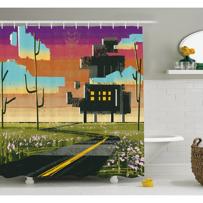 Ambesonne Fantasy Art House Trippy Futuristic Landscape Collage in ...