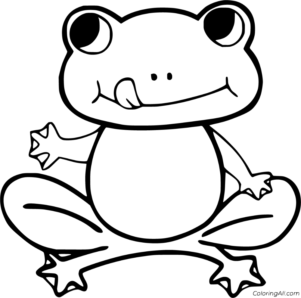 55 free printable Frog coloring pages in vector format