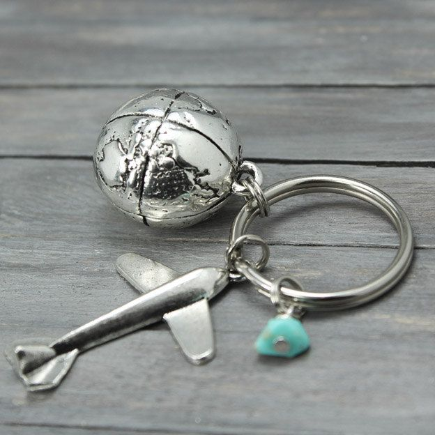 Airplane key chain travel keychain travel gifts globe keychain world airplane key chain travel keychain travel gifts globe keychain world traveler flight attendant pilot key chain gumiabroncs Image collections
