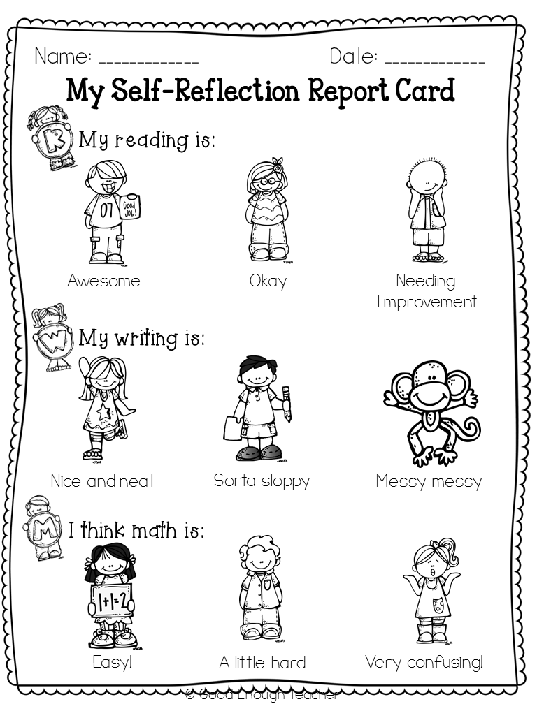 Good Enough Teacher: Student-Friendly Report Cards (freebie! 2 pages ...