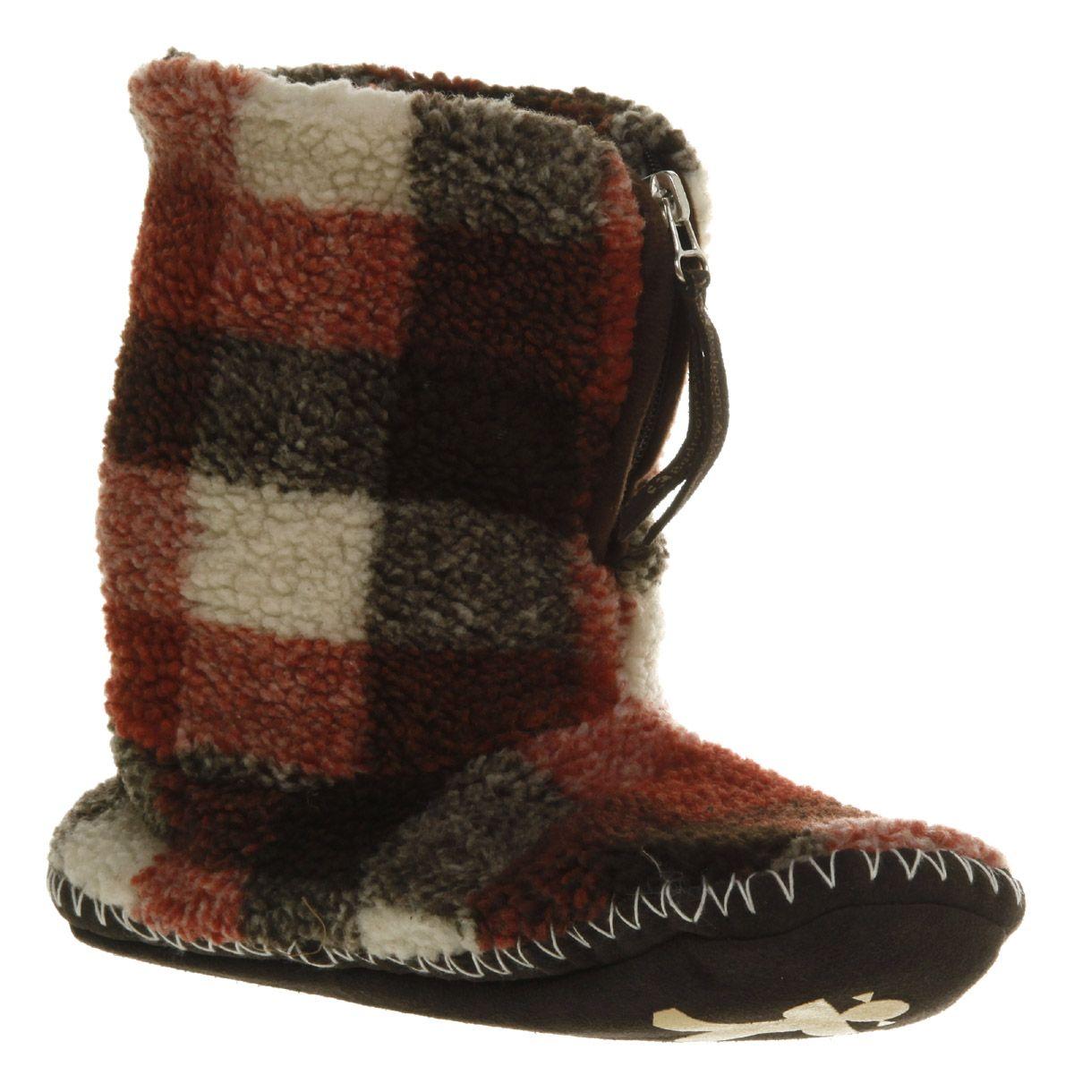 Bedroom Athletics Macgraw Fleece Slipper Chocolate Red Cream - Ankle Boots