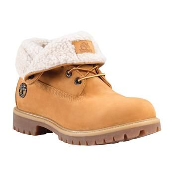 b1753bc720f Timberland - Boots Icon Roll Top Leather And Fabric Homme - Wheat Nubuck