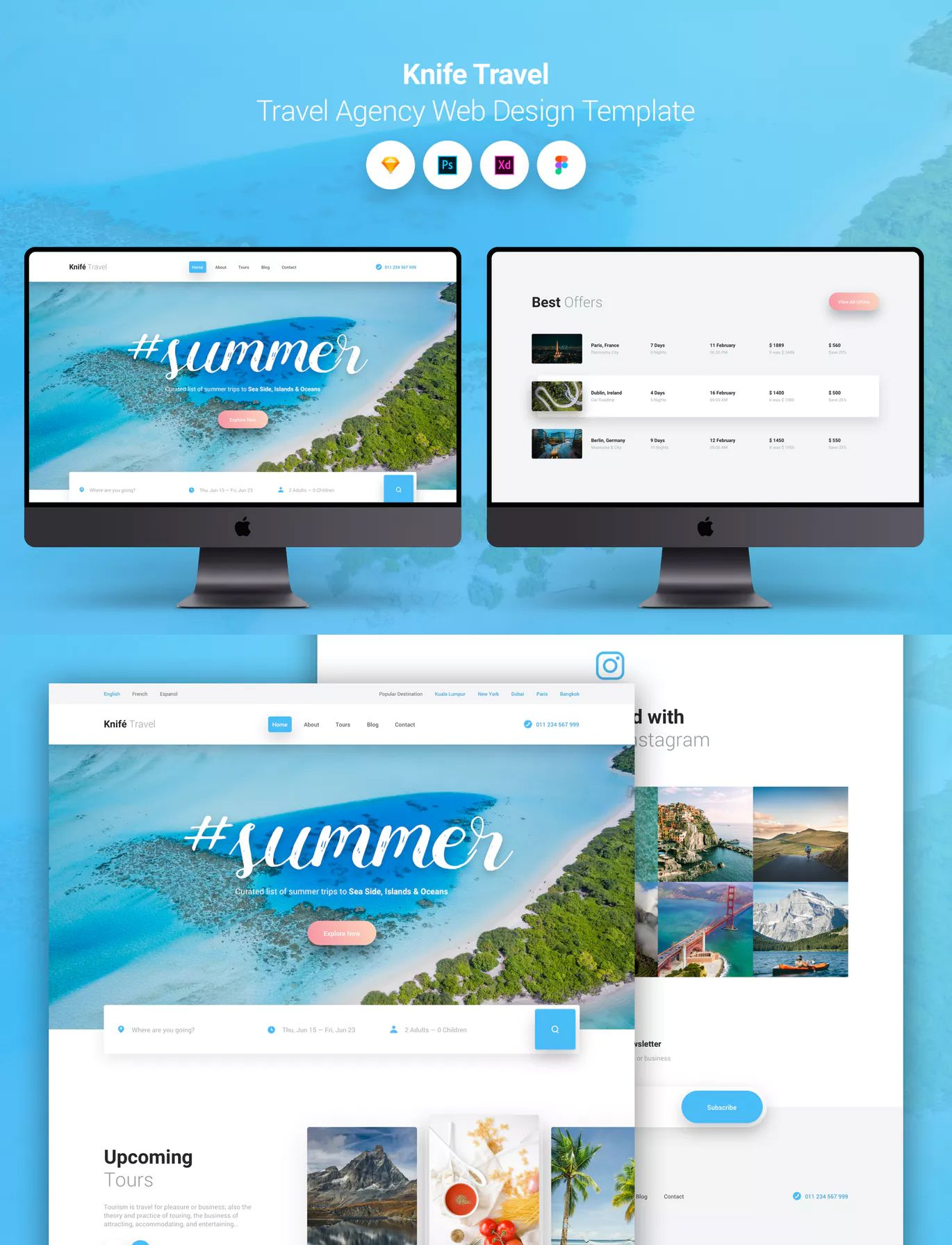 Knife Travel Travel Agency Web Design Template By Panoplystore On Envato Elements Travel Agency Website Web Template Design Travel Agency