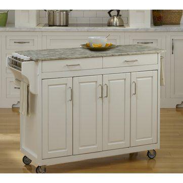Create-a-Cart Kitchen Island with Concrete Top   Kitchen   Pinterest ...