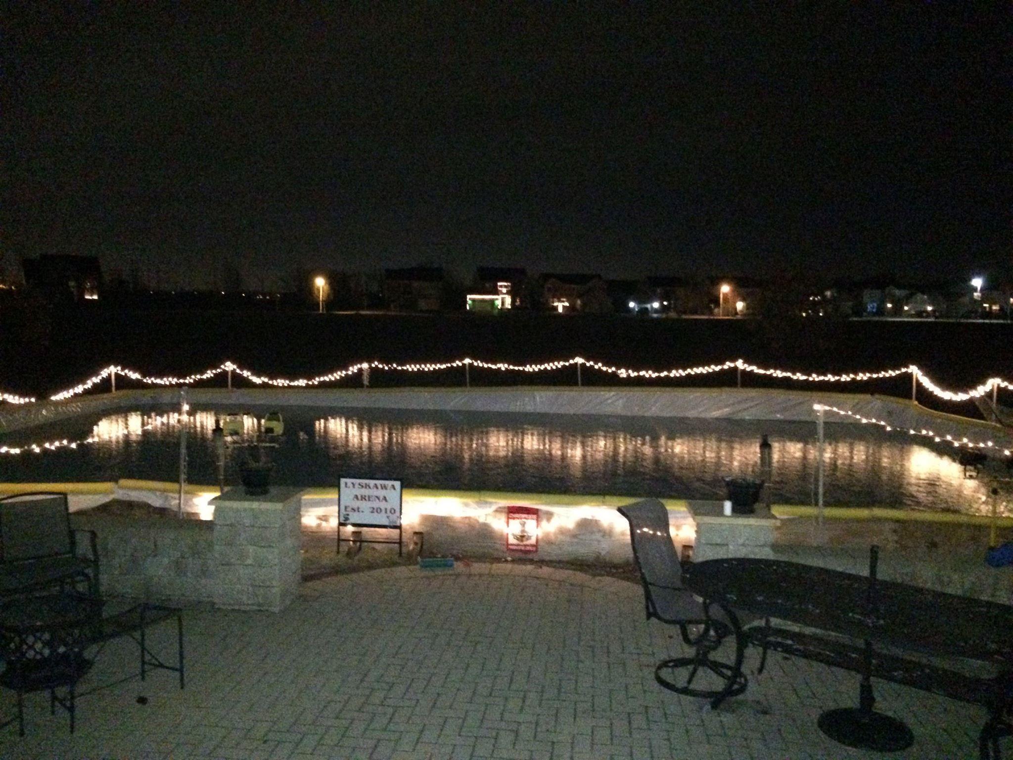 patio access to the nicerink backyard ice rinks pinterest