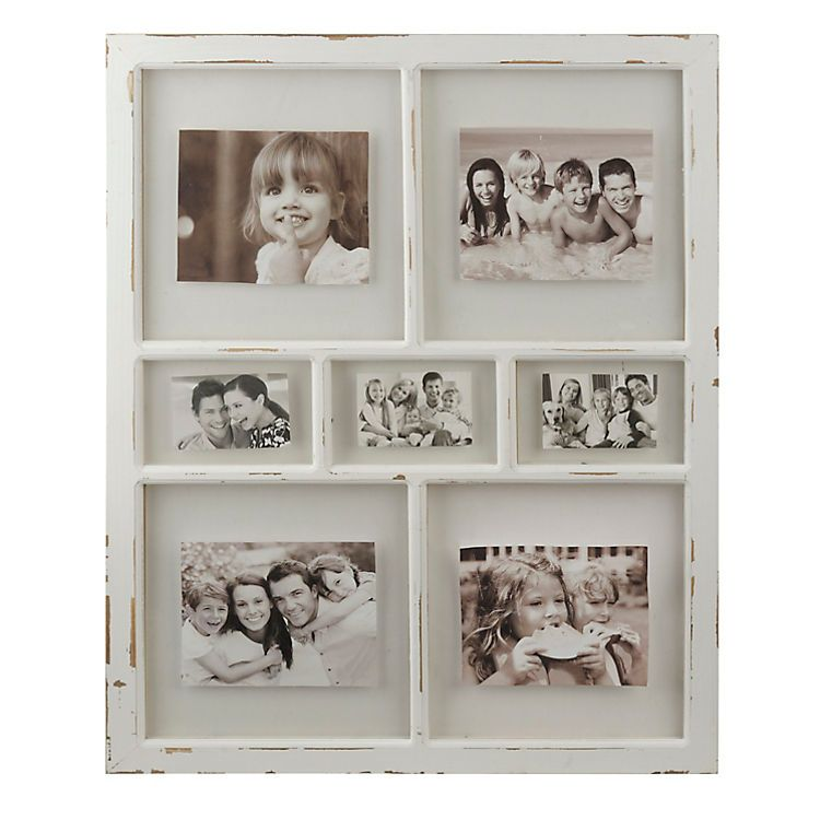 Distressed White Window Pane Collage Frame | Collage, Window and ...