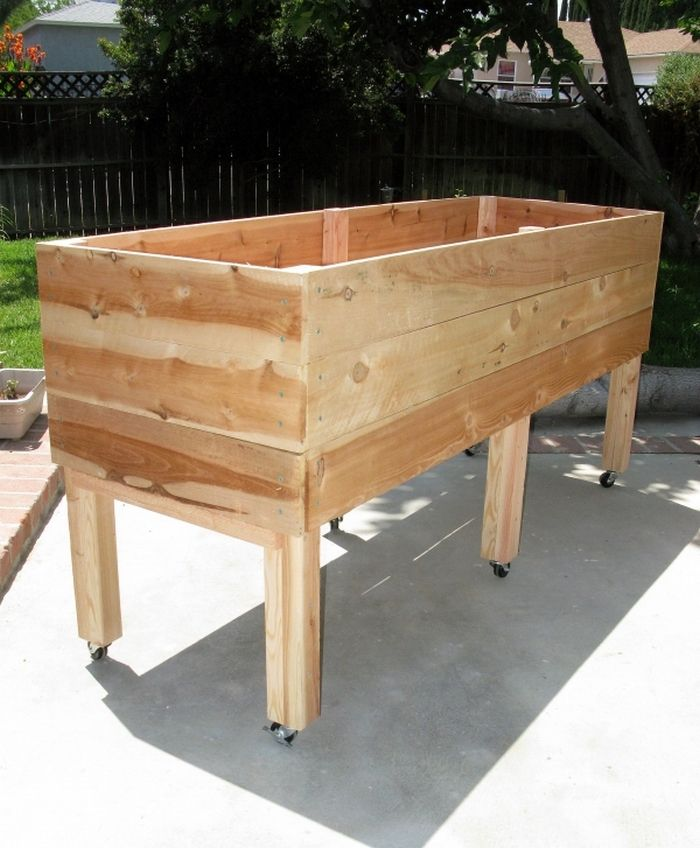 35 Advantageous Small Vegetable Garden Ideas For Your: DIY Waist High Planter Box