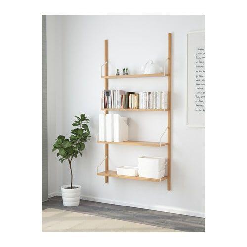 Mensole Da Parete Ikea.Svalnas Combinazione Di Scaffali Da Parete Bambu Nel 2019