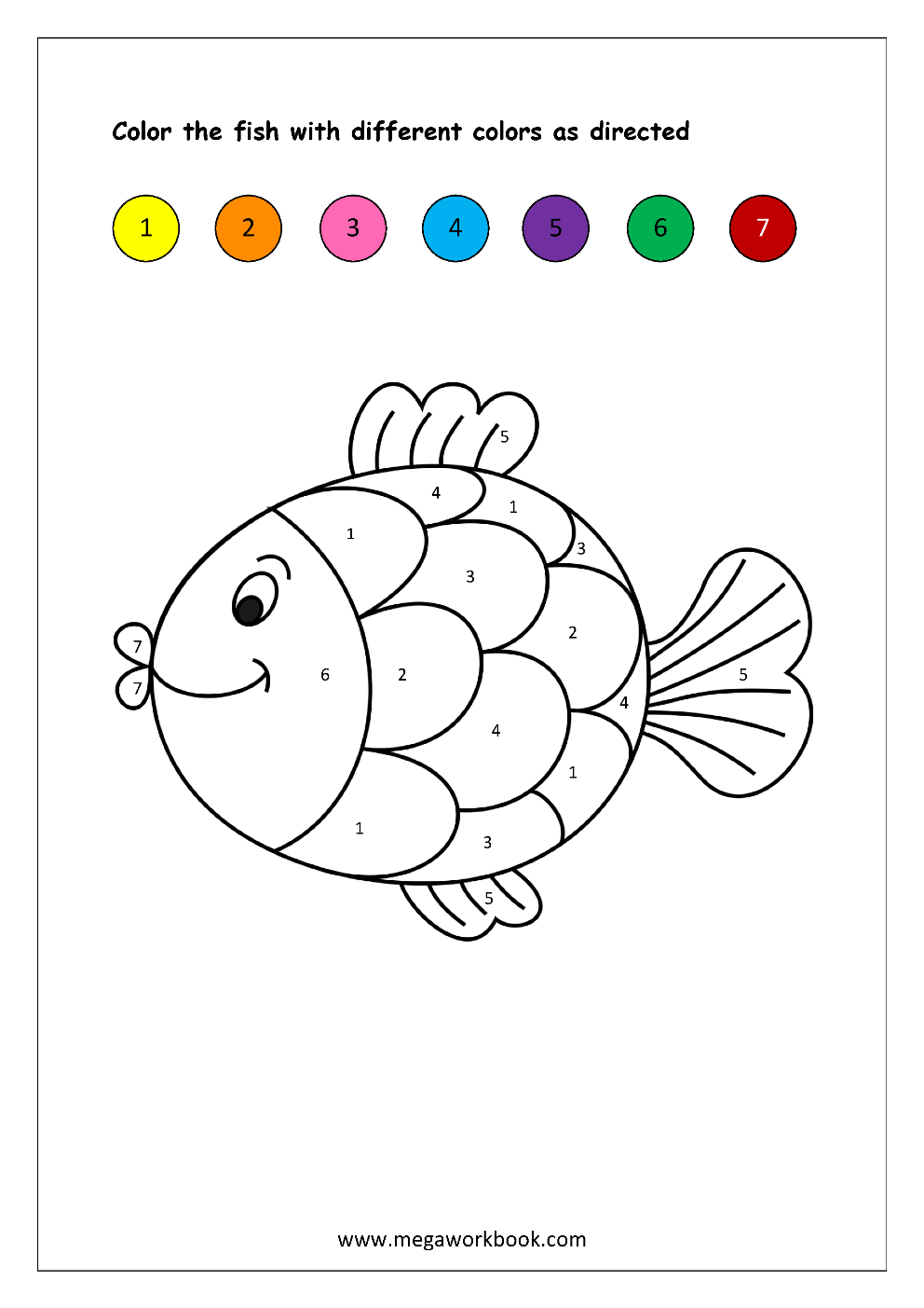 Free Printable Color By Numbers Worksheets - Color ...