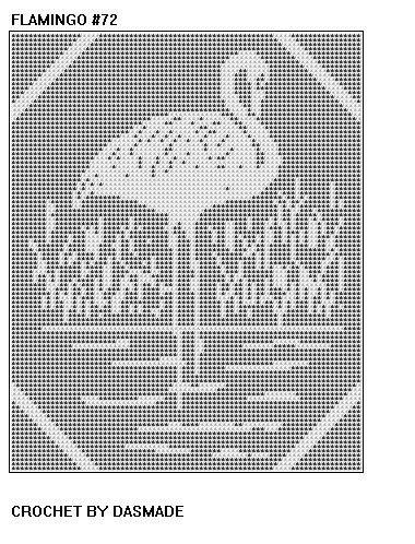 72 Flamingo Filet Crochet Doily Mat Bedspread Curtain Afghan Pattern ...