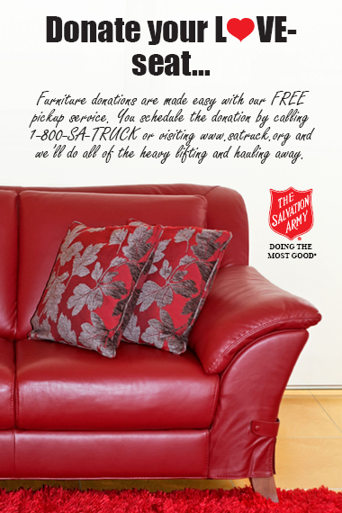 Schedule A Free Pickup By Calling 1 800 728 7825 Or Visiting Satruck Org Donatefurniture Doing Fun Things To Do Salvation Army Thrift Store Donate Furniture