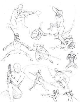 DeviantArt: More Like Studies for poses by mavinga | Art ref