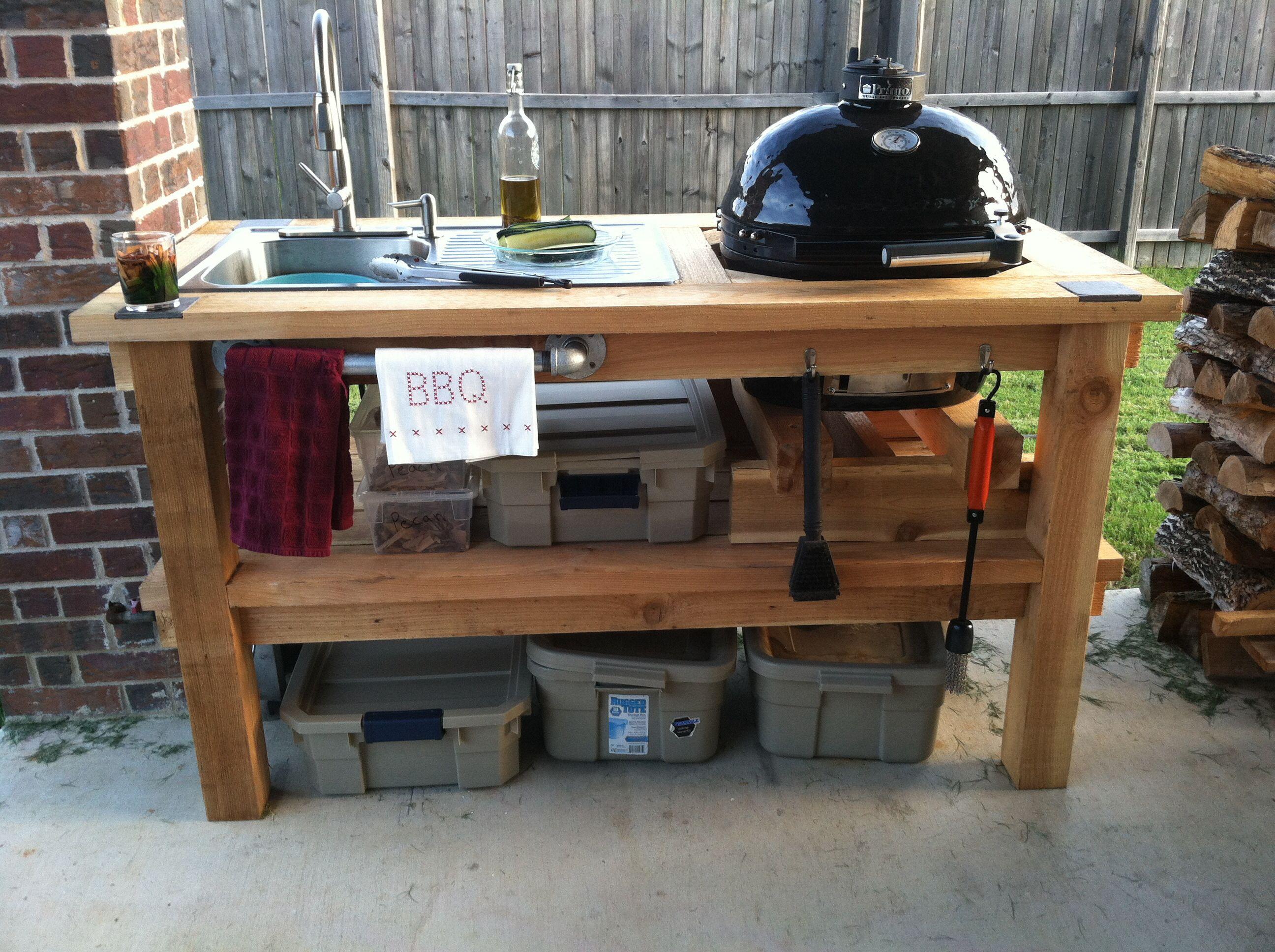 Primo junior home made cedar grill stand
