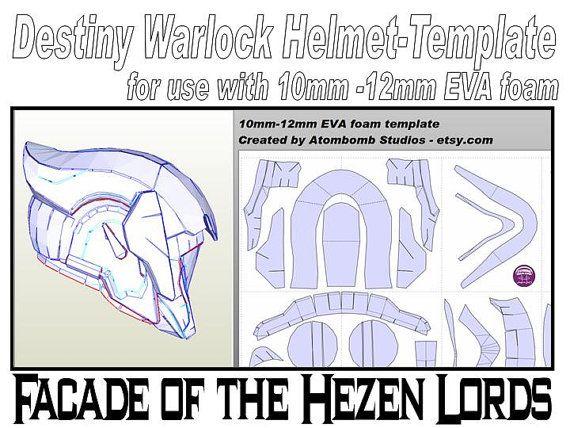 Destiny Warlock Helmet 'Facade of the Hezen Lords'. Template for EVA ...