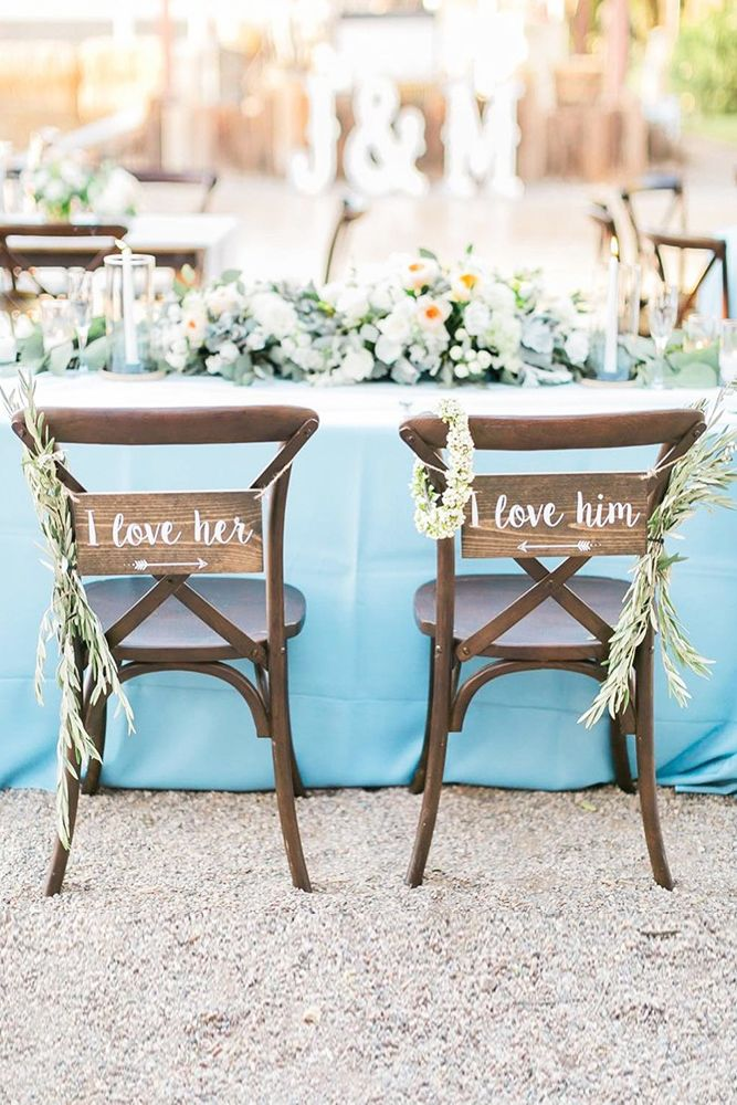 39 Gorgeous Beach Wedding Decoration Ideas Wedding Forward Wedding Chair Decorations Beach Wedding Reception Wedding Chair Signs