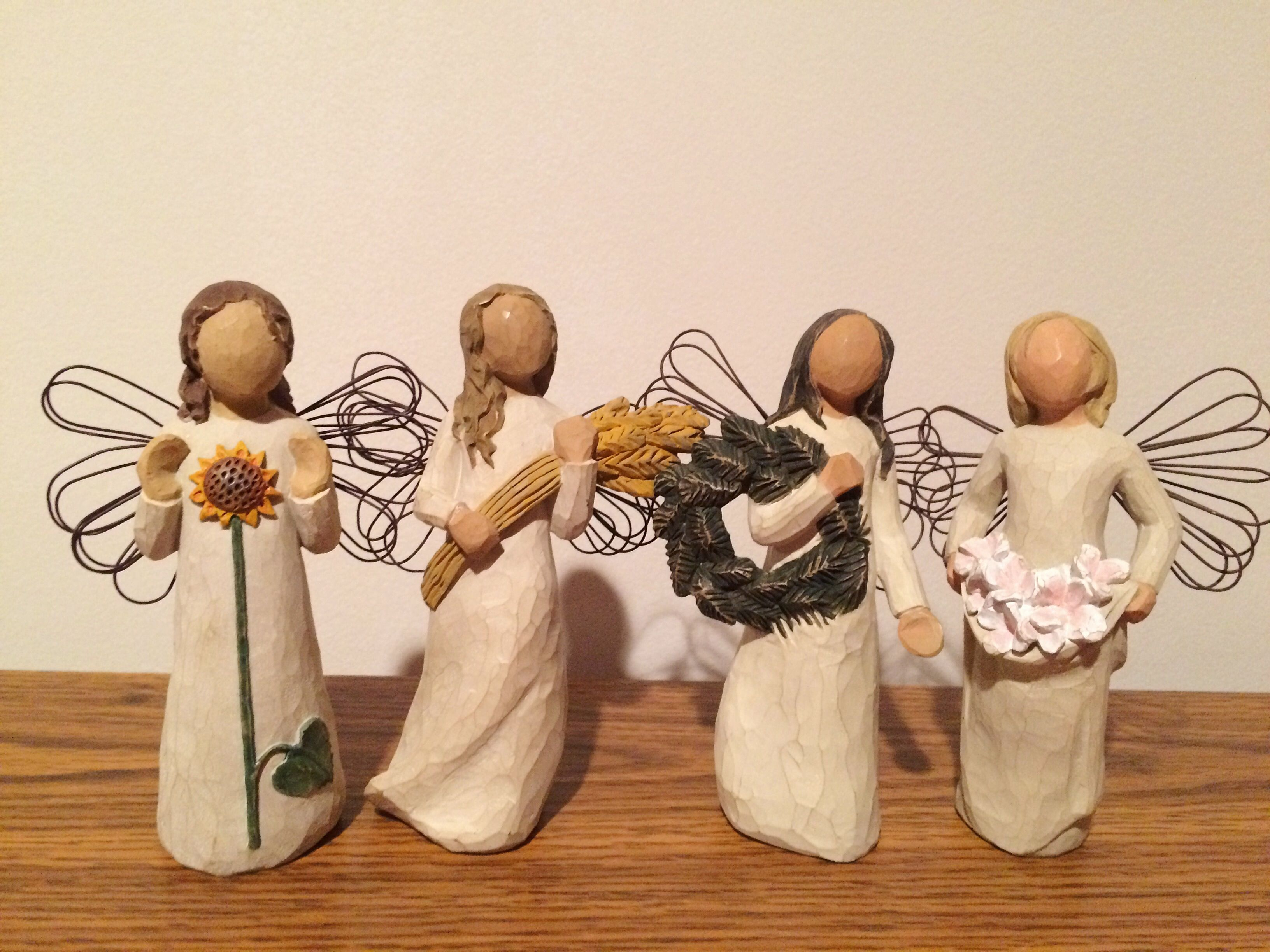 Willowtree Figurines Angel Of Summer Angel Of Autumn Angel Of Winter Angel Of Spring Willow Tree Figurines Willow Tree Figures Willow Tree Angels
