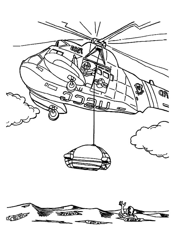 Helicopter Saving Life At Sea Coloring Pages Coloring Sun My Little Pony Coloring Coloring Pages Dinosaur Coloring Pages