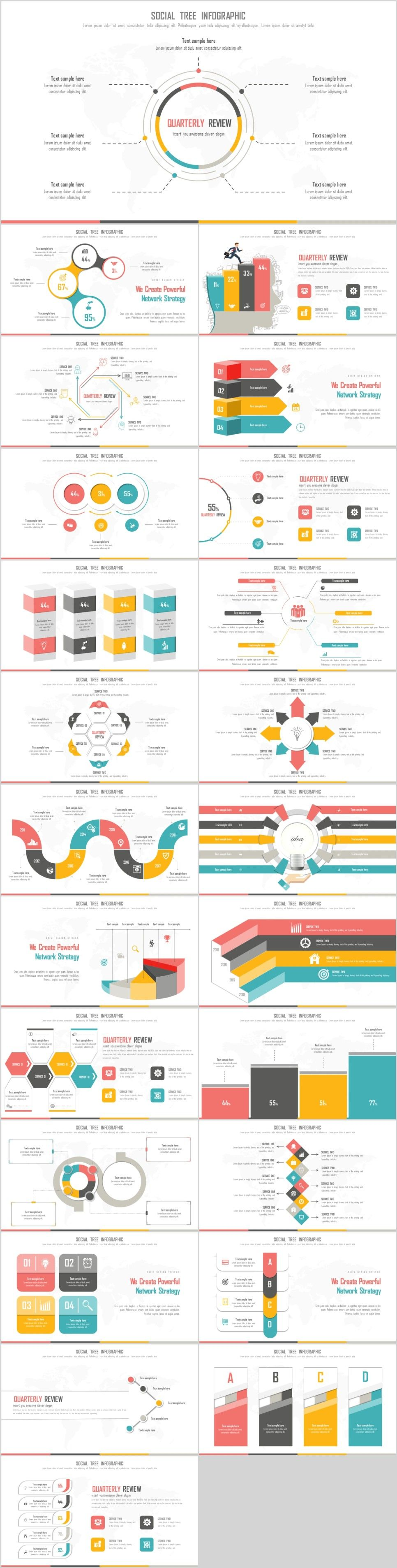24 Best Creative infograp PowerPoint templateThe highest quality PowerPoint Templates and Keynote Templates download