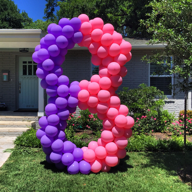 party ideas balloon decor fun kids parties outside yard