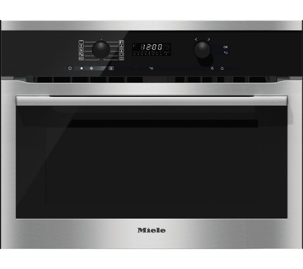Buy a Miele H6100BM Electric Oven and Microwave CleanSteel