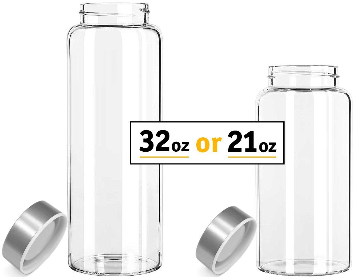 Amazoncom Kablo Glass Water Bottle 32 oz 100 Borosilicate Glass